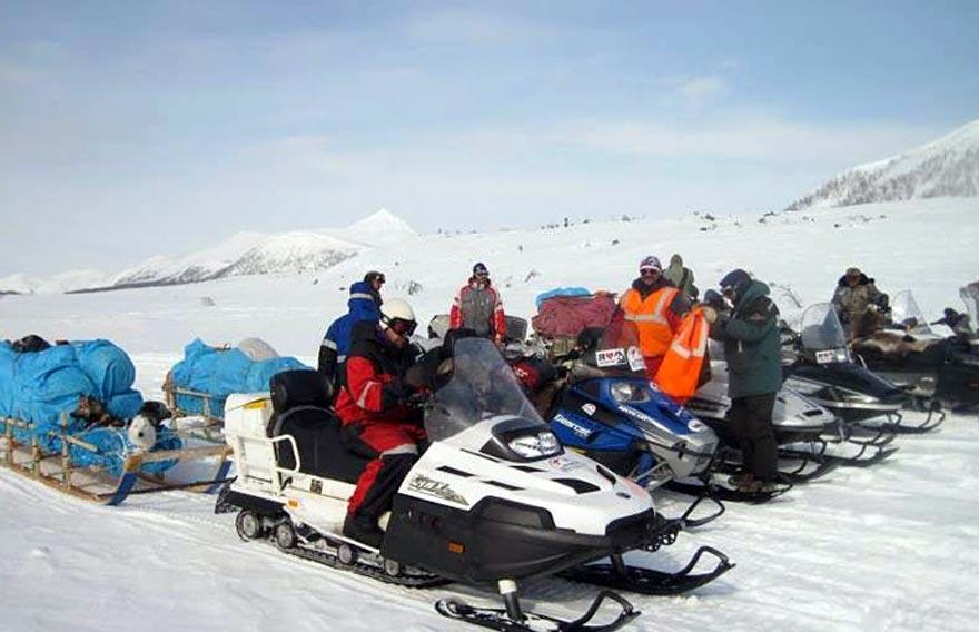 Тур на снегоходах по всей Камчатке - по земле Санникова - туры и экскурсии на Камчатке