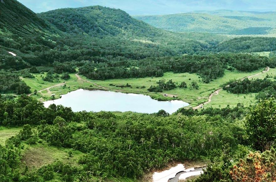 Озеро Тахколоч на вулкане Вачкажец - туры и экскурсии на Камчатке