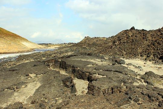 Лавовые потоки на вулкане Горелый - туры и экскурсии на Камчатке